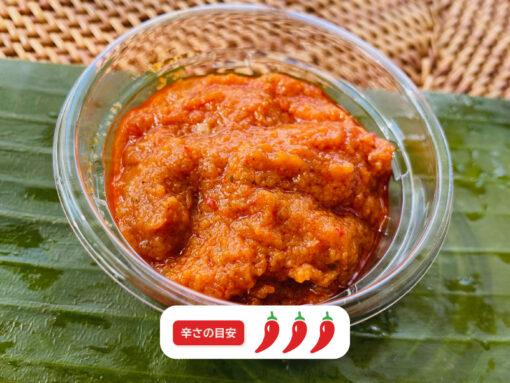 サンバルトマト(インドネシアの手作り辛味調味料)3