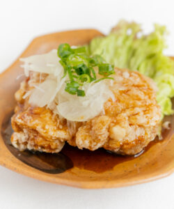 播州百日鶏の油淋鶏1