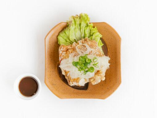 播州百日鶏の油淋鶏2