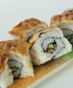 蒸し穴子棒寿司2