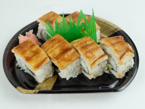 蒸し穴子棒寿司5